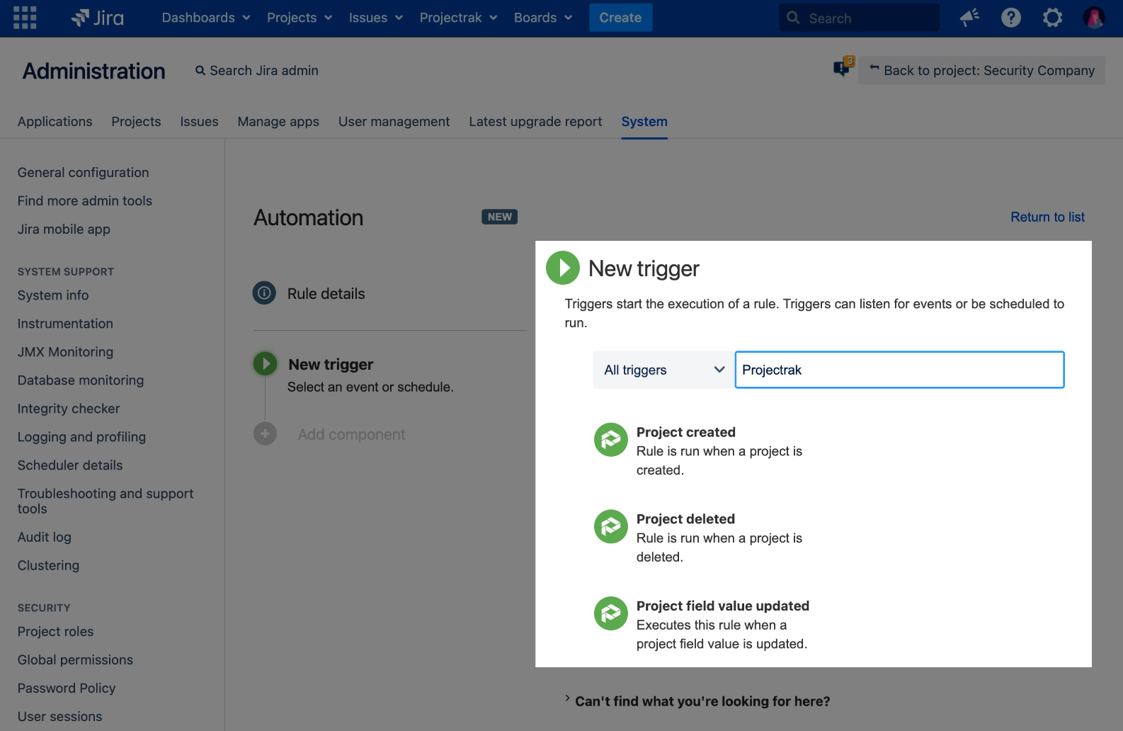 Automation for Jira | Projectrak