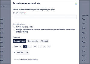 Inform the team with email notifications in project changes