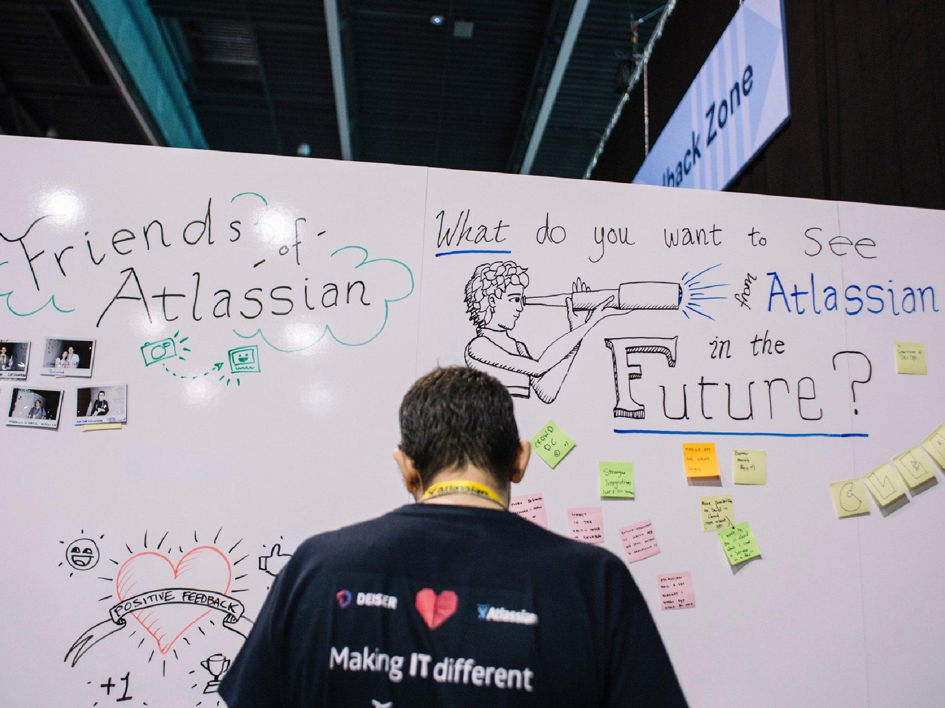 Atlassian conference summit team board