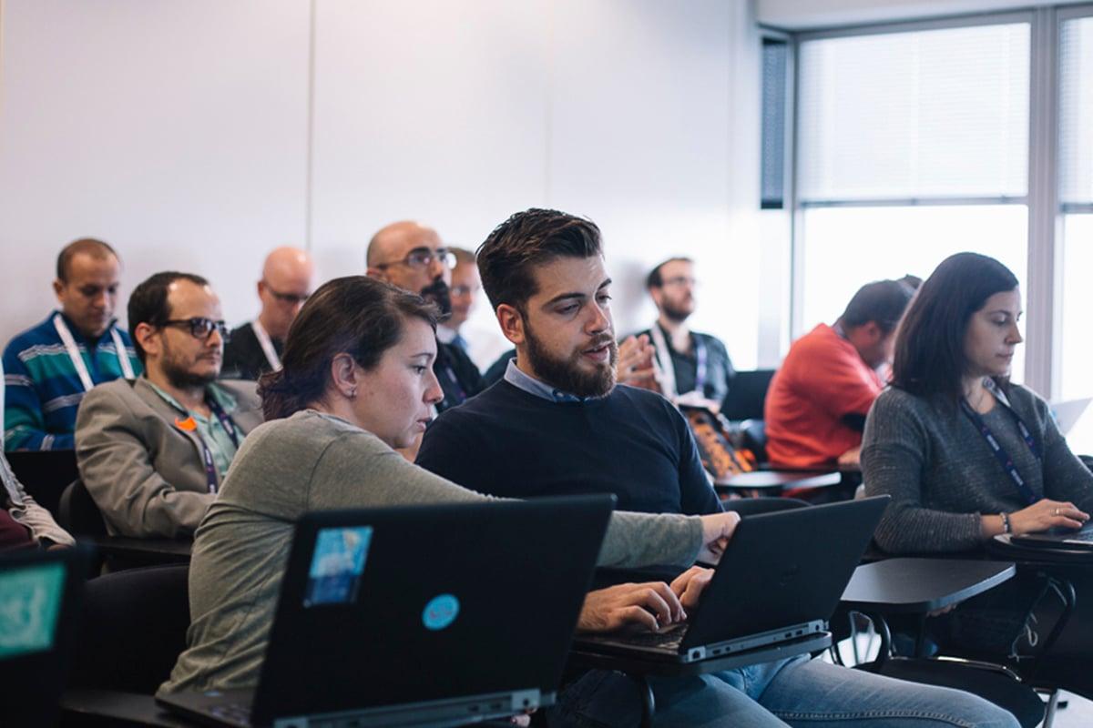 Las personas que asistieron a los talleres de los DEISER Enterprise Days 2018