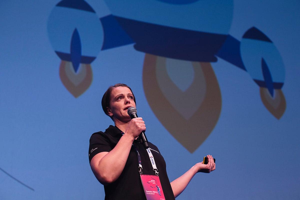 The Mindville durante su presentación en los DEISER Enterprise Days 2018