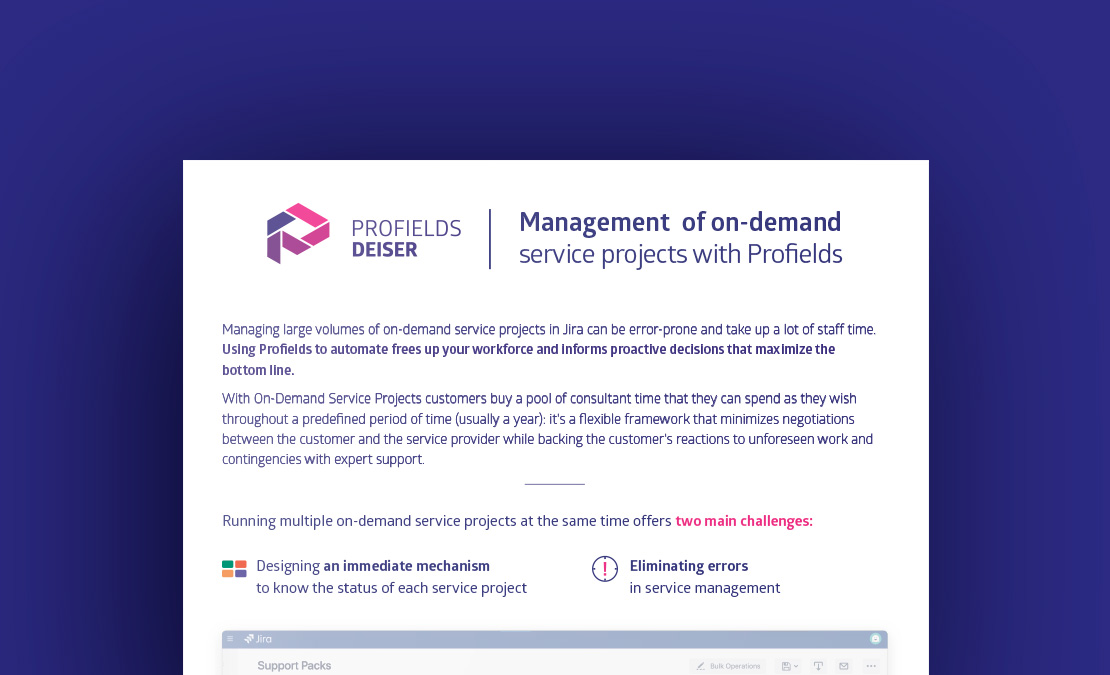 Profields for Jira use case | Manage on-demand Atlassian services with Profields for Jira