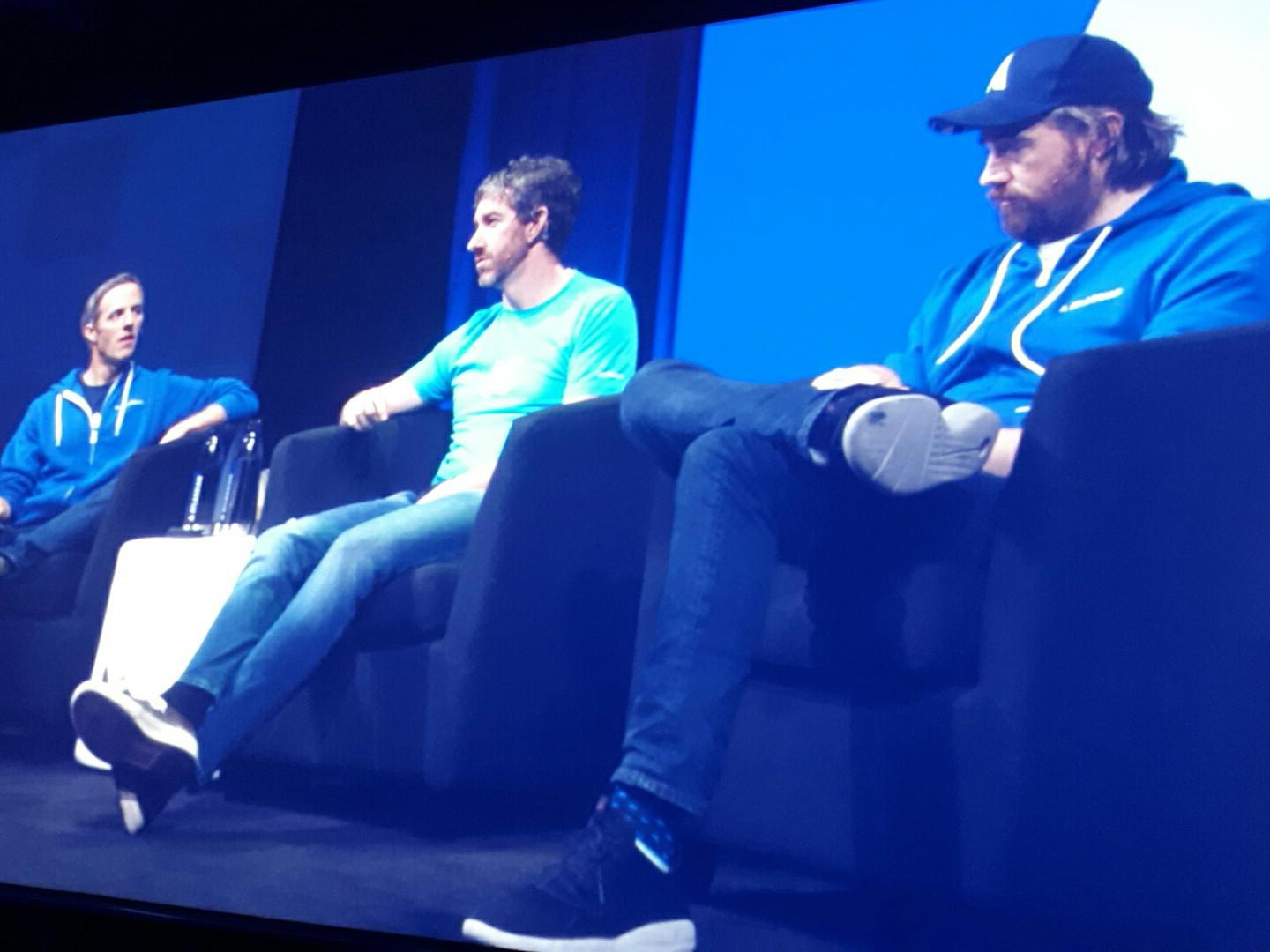Jay Simons, Scott Farquhar, and Mike Cannon-Brookes