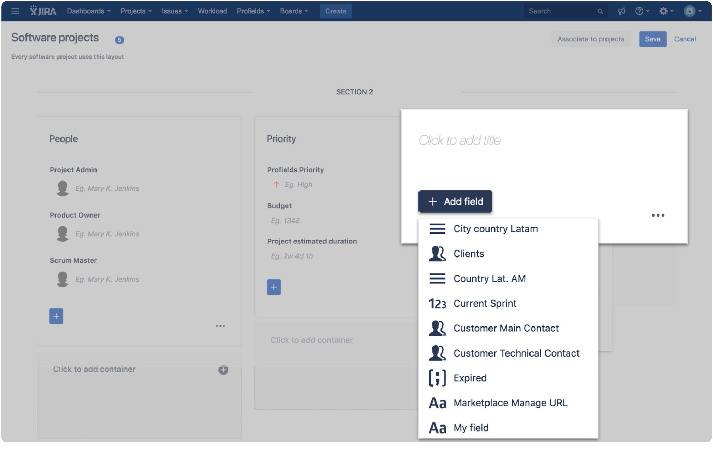 Profields for Jira | Reuse Jira projects layouts